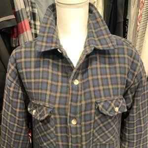 Sherpa lined plaid vintage jacket